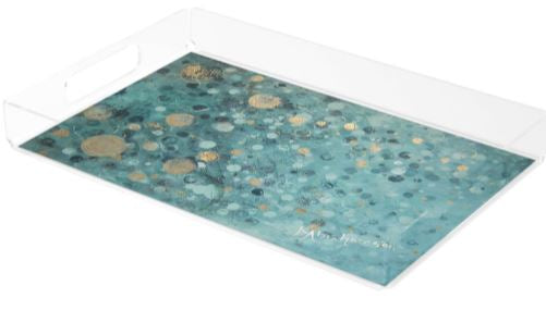 Acrylic Tray- featuring Glistening Effervescence Rectangular Tray