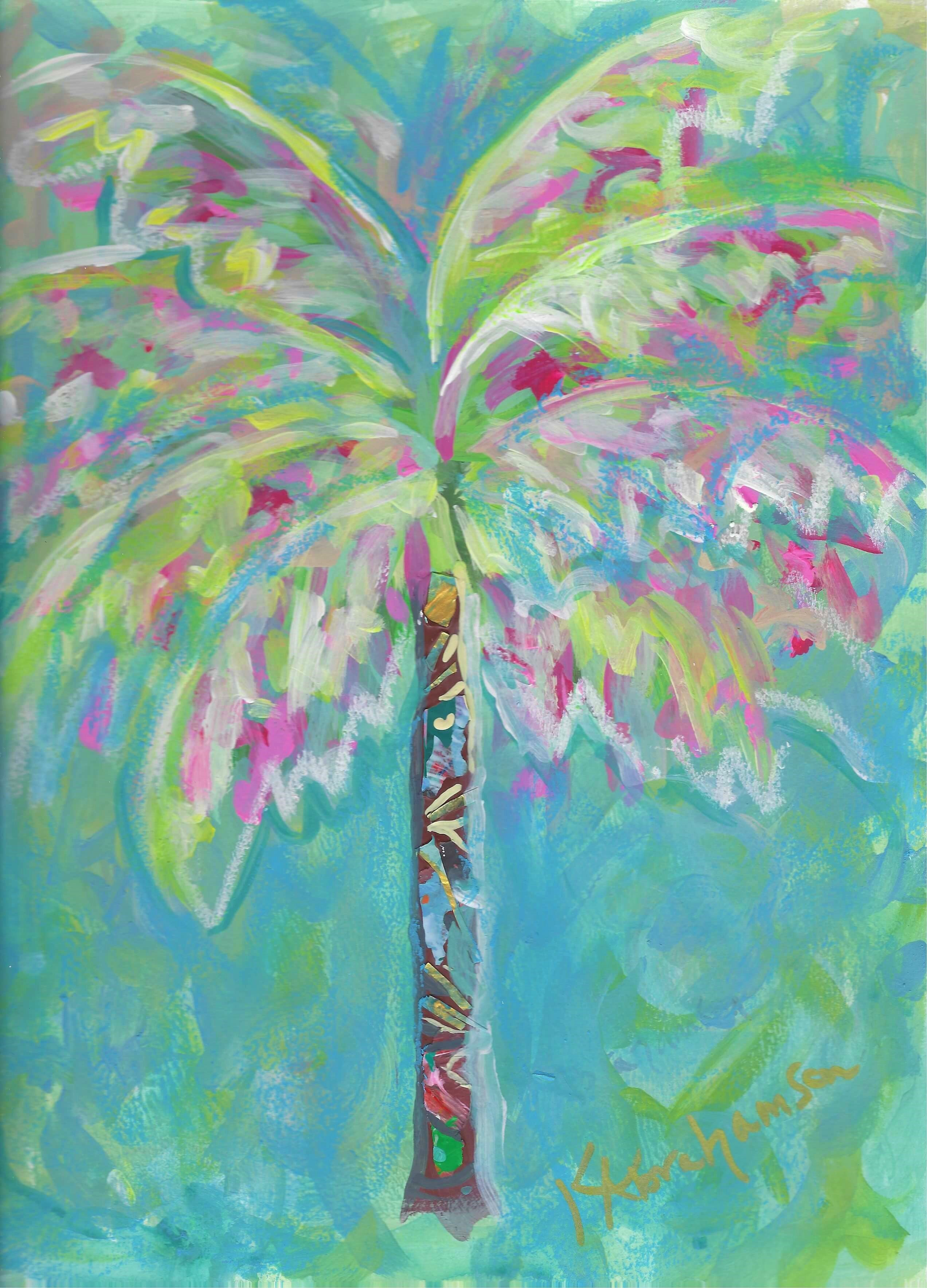 """Santa Barbara Palm 2"" Painting"