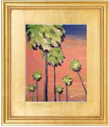 """Seven Palms Pretty in Pink"" Painting 8x10 Framed"
