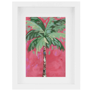 """Strawberry Coconut Palm 1"" Painting"