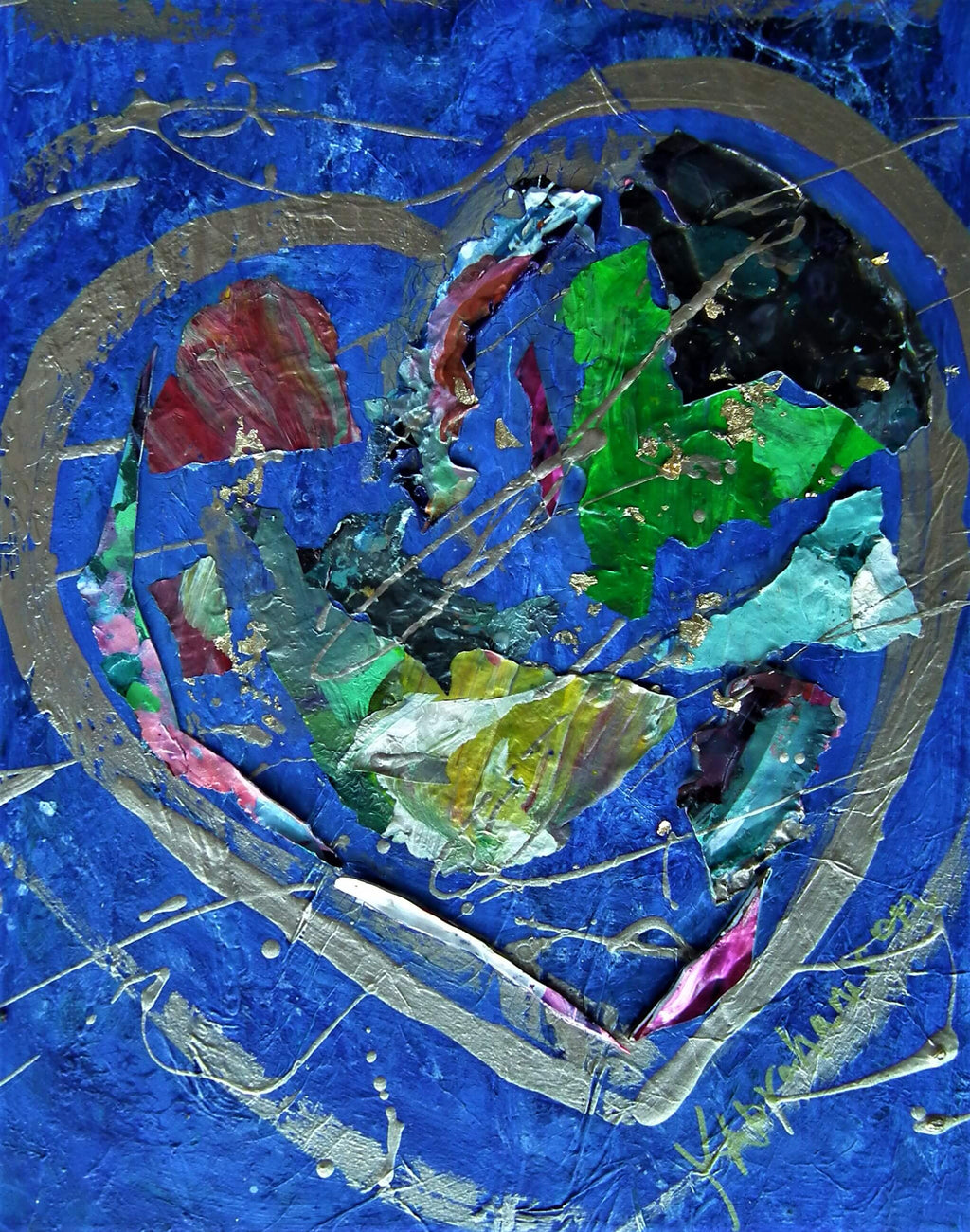 "Abstract Heart Painting 11x14"" #50"