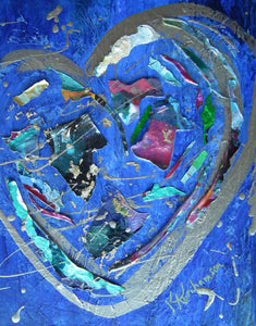 "Abstract Heart Painting 11x14"" #51"