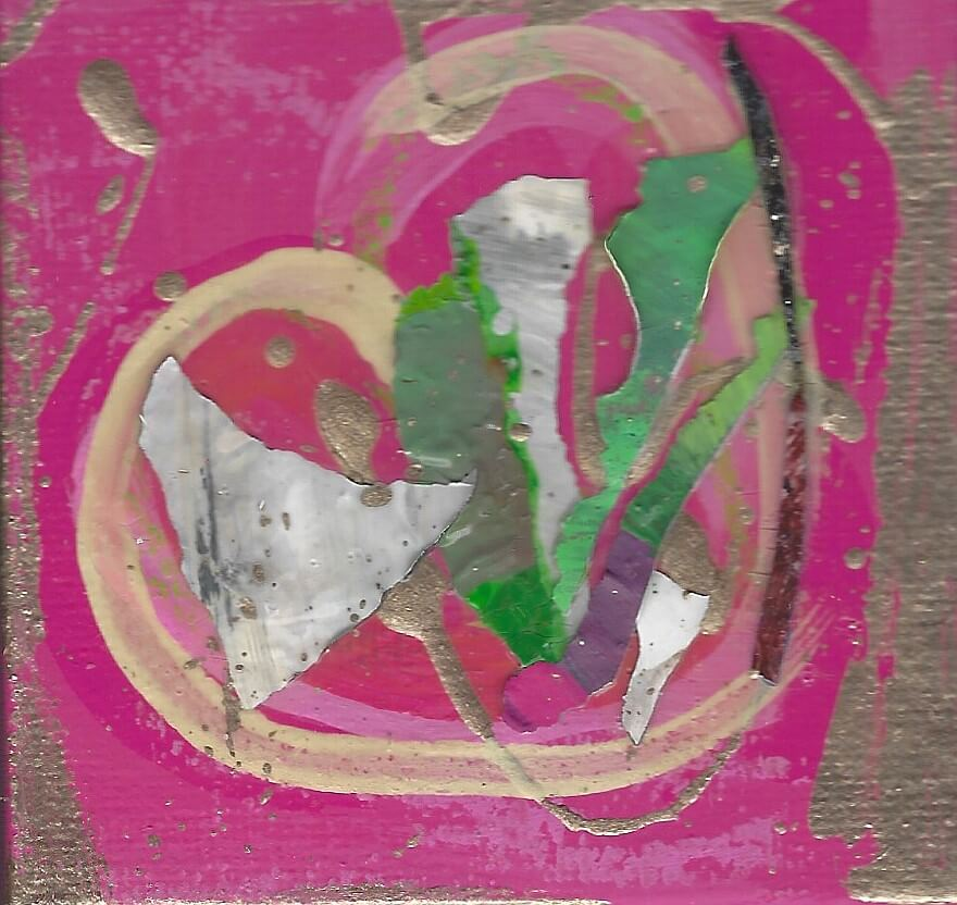 Tiny Treasures Abstract Heart Painting 2020 #11