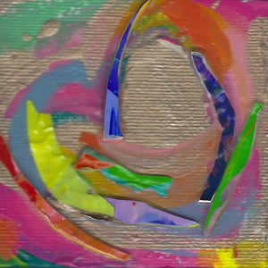 Tiny Treasures Abstract Heart Painting 2020 #24