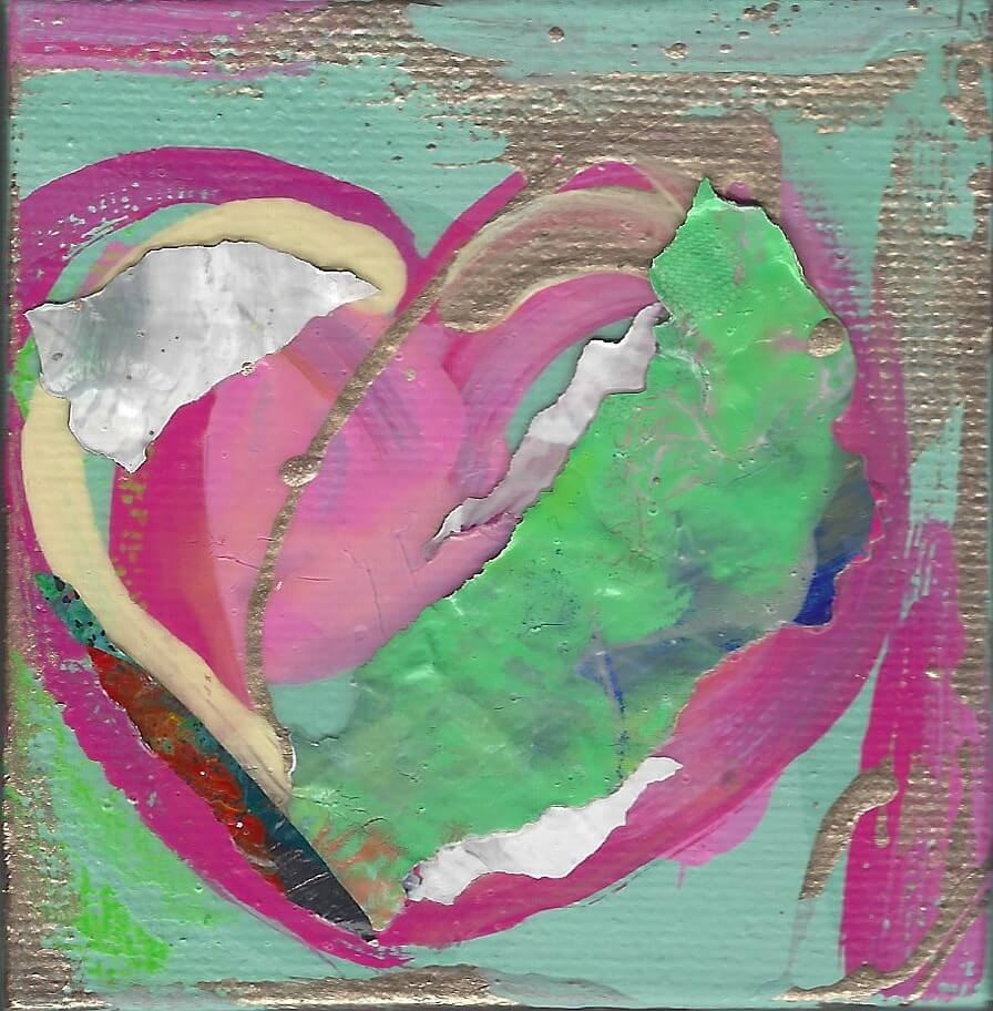 Tiny Treasures Abstract Heart Painting 2020 #6