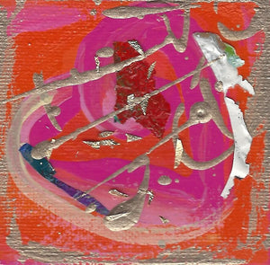 Tiny Treasures Abstract Heart Painting 2020 #7