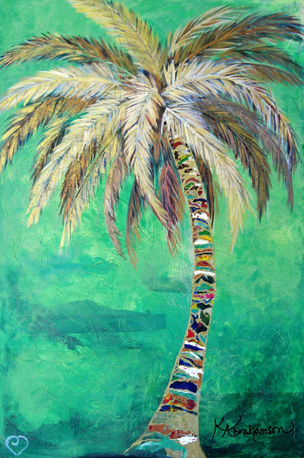"""Verdant Palm Tree Painting"""