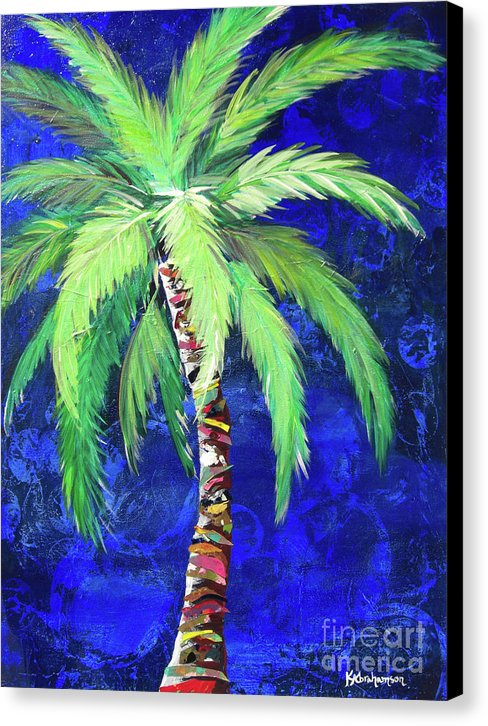 Cobalt Blue Palm II - Canvas Print
