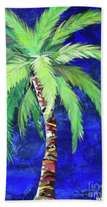 Cobalt Blue Palm II - Beach Towel