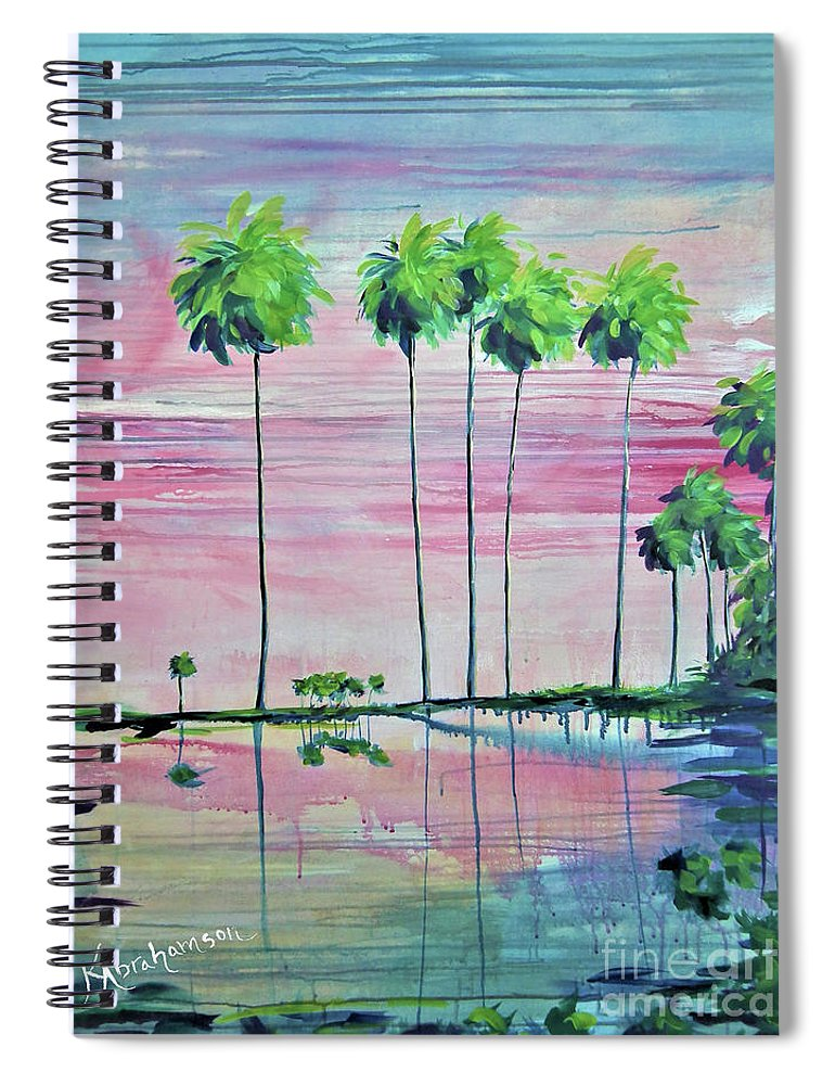 Intercoastal Pink Sky Reflections 2 - Spiral Notebook