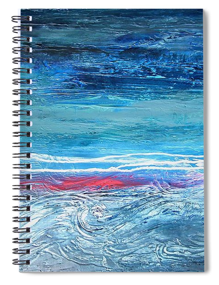 Magnificent Morning Abstract Seascape - Spiral Notebook