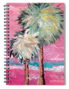 Pink Horizon Palms - Spiral Notebook