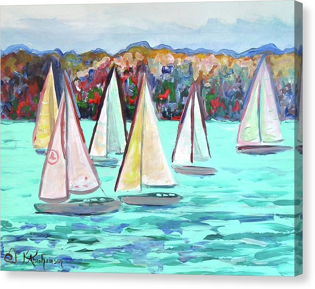 Sailboats in Spain I - Canvas Print