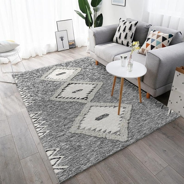Nordic Art Carpets For Living Room Home Moroccan Bedroom Carpet Sofa Coffee Table Floor Rug Study Room Floor Mat Modern Area Rug