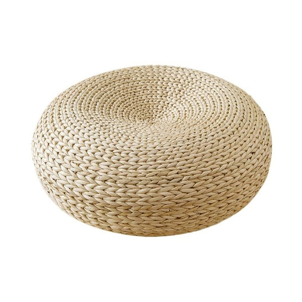 New Tatami Handmade Weave Natural Straw Round Thicken Window Chair Cushion Pad Round Sitting Mat Meditation Cushion Home Decor