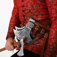 Load image into Gallery viewer, Mythrojan Medieval Viking Axe Battle Ready axehead Reenactment Renaissance Costume