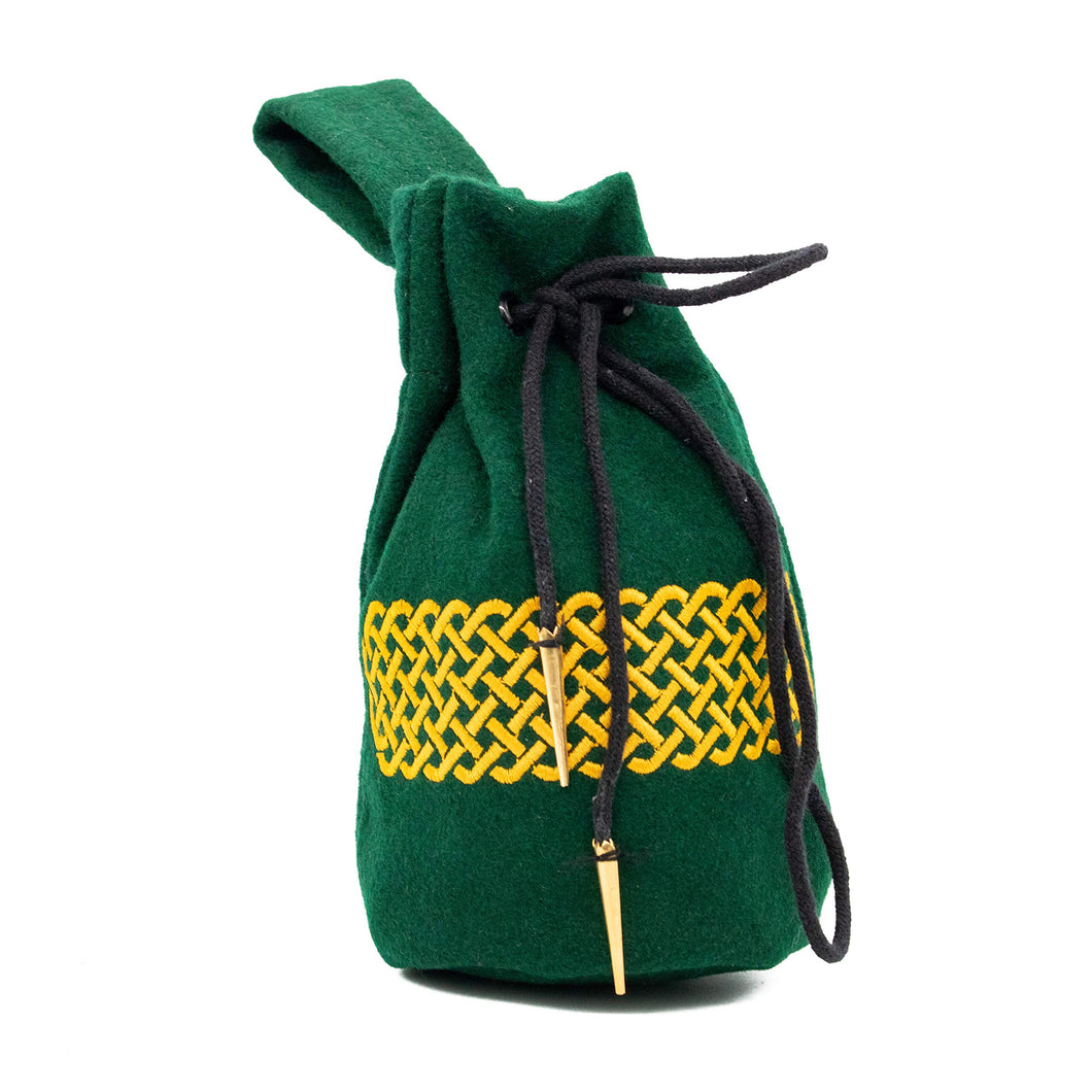 Mythrojan Drawstring Belt Pouch Renaissance Costume Accessories Medieval Jewelry Pouch DND Dice Bag Pirate Hip Pouch LARP Waist Bag Cosplay Coin Purse : Green