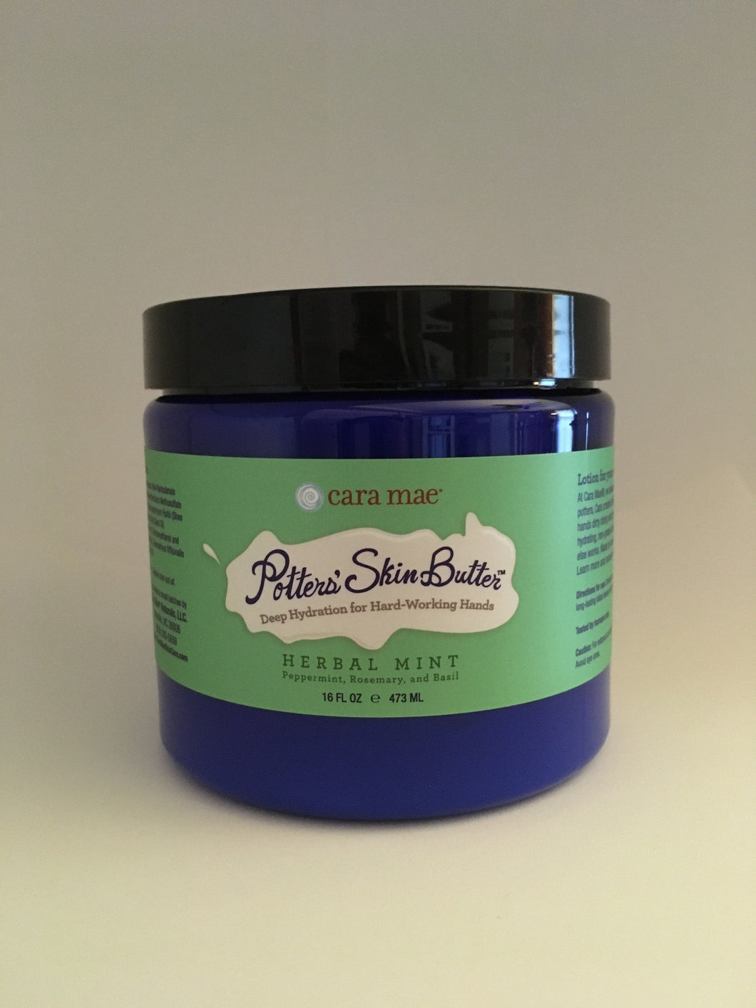 Herbal Mint Potters' Skin Butter Large 16oz Jar