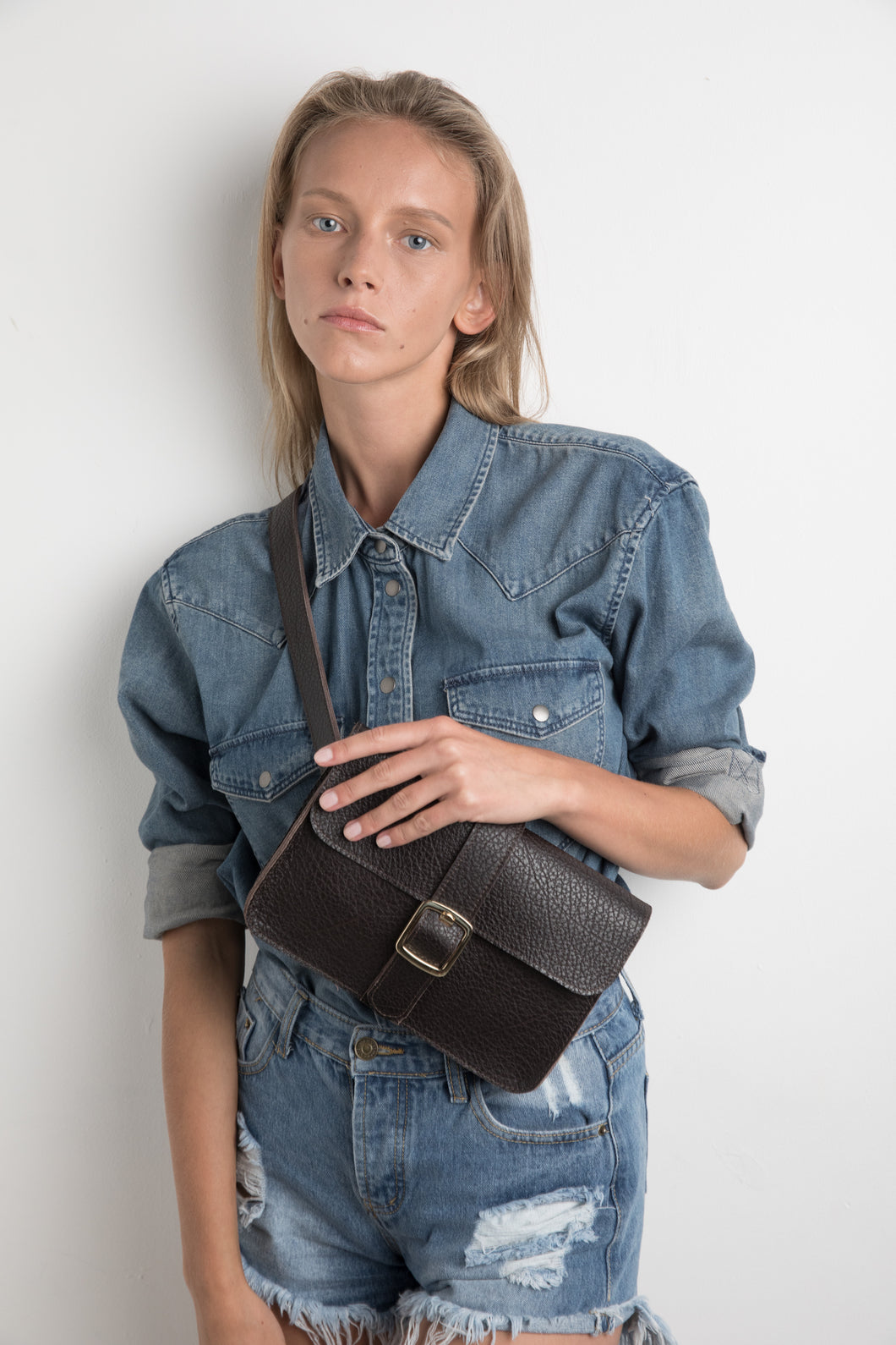 Janis Bag- dark brown leather