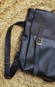 Barry bag- Black Leather