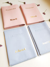 Load image into Gallery viewer, Personalized passport cover- pink leather