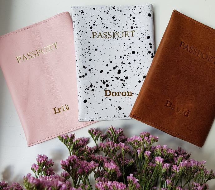 Personalized passport cover