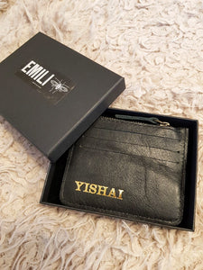 Personalized Card Holder- black