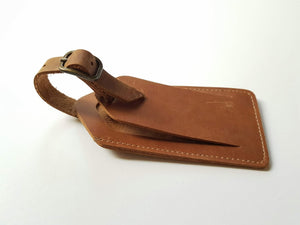 Passport Cover + Luggage tag- brown leather
