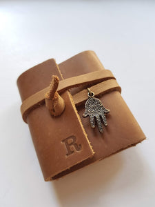 Personalized  Tehilim - brown leather