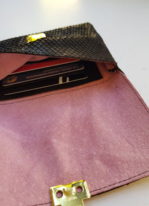 Small Wallet - Black Texture Leather