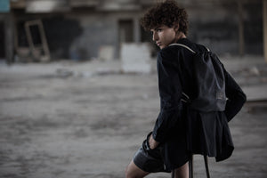 Backpack- Black Canvas& Leather