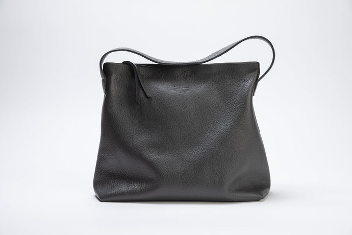 Lewis Bag- dark gray leather