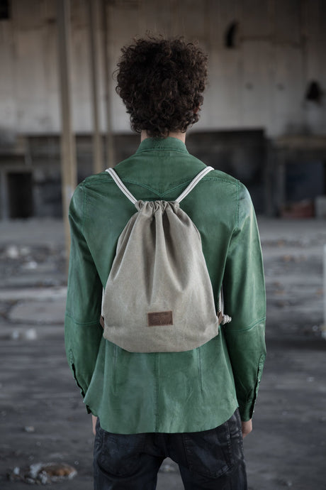 Backpack- Olive Canvas& Leather