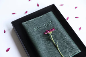 Passport Cover- dark green