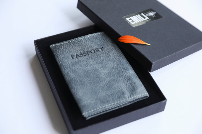 Passport Cover - Gray