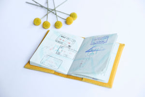 Passport Cover- yellow
