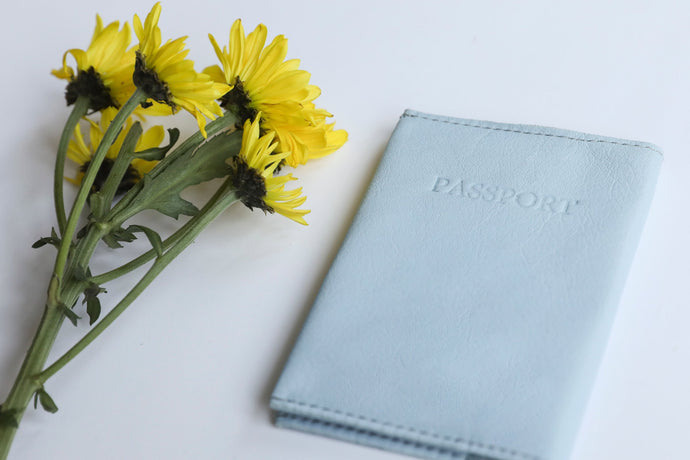 Passport Cover - Light Blue