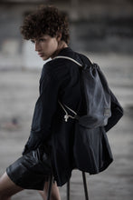 Load image into Gallery viewer, Backpack- Black Canvas& Leather