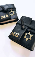 Load image into Gallery viewer, Personalized Tehilim - black leather