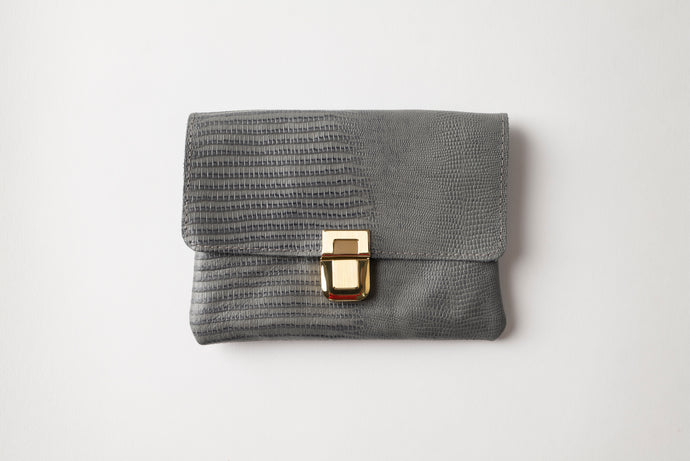 Small Wallet - Gray Leather