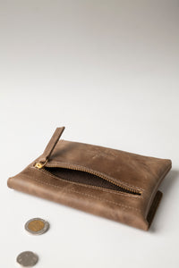 Small Wallet - Brown Leather