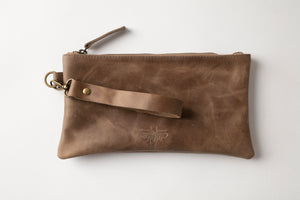 Clutch Bag- Brown Leather