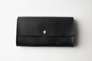Large Wallet - Black Leather