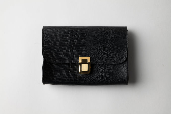 Medium Wallet - Black Leather