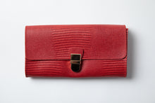 Load image into Gallery viewer, Large Wallet- red texture leather