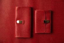 Load image into Gallery viewer, Large Wallet - Red Leather