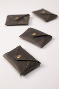 Mini Wallet - Dark Gray Leather