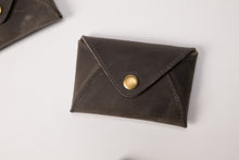 Load image into Gallery viewer, Mini Wallet - Dark Gray Leather