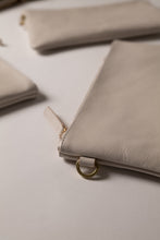 Load image into Gallery viewer, Clutch Bag- Stone Color Leather