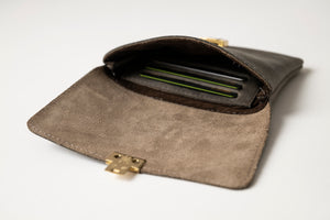 Small Wallet - Dark Gray Leather